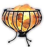 100% Genuino Natural terapeútica iodising del Himalaya Roca De Sal Lámparas (1x VELA PORTAVELAS) - Night Basket