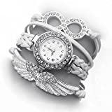 Addic White Angel Wings White Dial Analo...