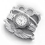 Addic White Angel Wings White Dial Analo...