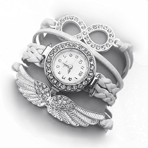 Addic White Angel Wings White Dial Analogue watch For Women.