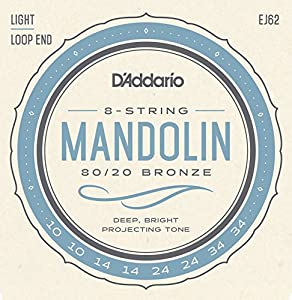 D'Addario EJ62 80/20 10 - 34 Bronze Light Mandolin String