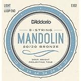 D'Addario EJ62 80/20 10 - 34 cuerdas luz mandolina bronce