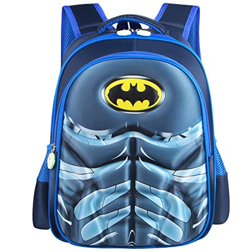 CDREAM Spiderman Zainetti Per Bambini Simpatici Zaini Per Adolescenti Con Uomo Ragno Per Borse Da Scuola,Batman-L