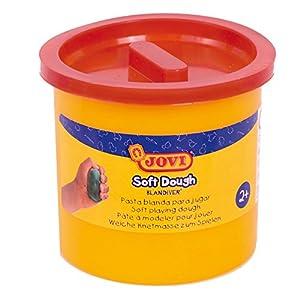 Jovi - Soft Dough Blandiver, Estuche de 5 Botes, 110 g, Color marrón (45009)