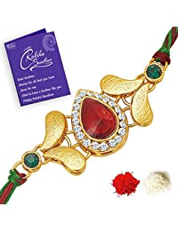 Sukkhi Astonish Rakhi with Roli Chawal and Raksha Bandhan Greeting Card For Men