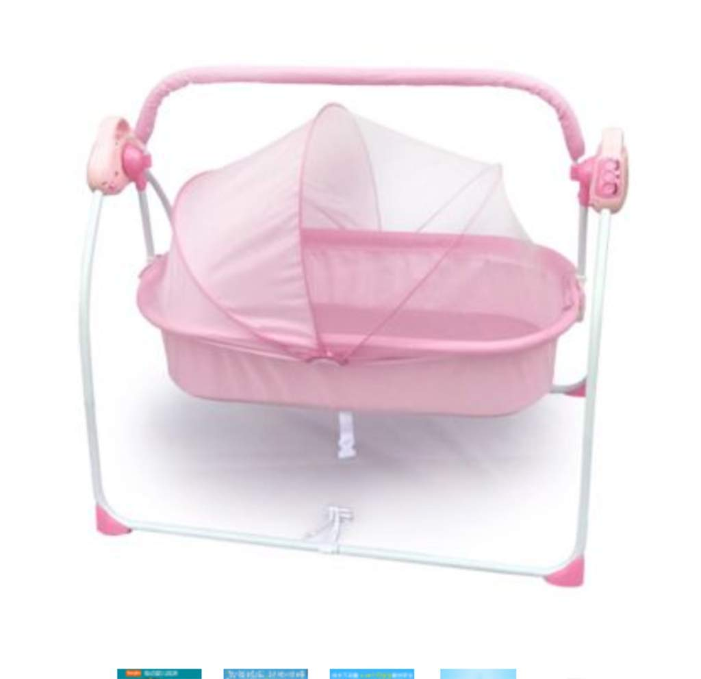 Baby Electric Cradle Bed - Rocking Chair Sleeping Basket Baby cot Smart Baby Artifact Sleepy Comfort Chair,3-Speed Electric Swing, Easy to Sleep,B AYUANCHUN From soothing swings, music and sounds to calming vibrations, light projections, and more, everything has everything to help your baby leave the dream comfortably. Sensory: A variety of soft textures, calm vibrations and swaying movements stimulate the baby's senses. Safety and well-being: Soft cushions, calm vibrations and gentle shaking help to soothe your baby, become a part of the nap and routine before going to bed, giving your baby a sense of security. 1