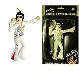 hotrodspirit–Tanzende Elvis-Figur für den Rückspiegel (weiß), für Sammler