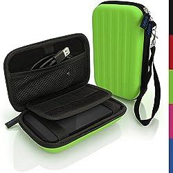 igadgitz Vert EVA Étui Housse Rigide pour Western Digital My Passport Pro Disque Dur Externe Portable Pochette Case Cover