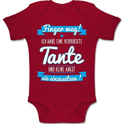 Shirtracer Sprüche Baby - Ich Habe eine verrückte Tante Blau - 1-3 Monate - Rot - BZ10 - Baby Body Kurzarm Jungen Mädchen (Keine Kleidung-junge Und Mädchen)