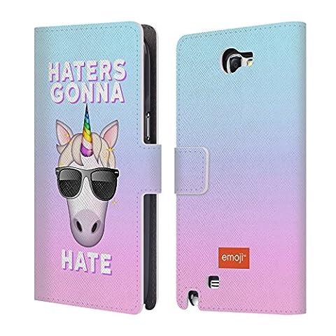 Officiel Emoji Haters Licornes De Pastel Étui Coque De Livre