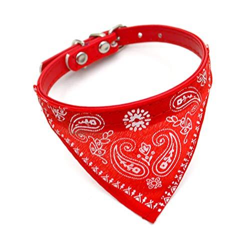 Trifycore Einstellbare Personalisierte Cute Pet Bandanas Schalkragen Hund Katze Halsbänder und Halstuch - rot Kleinen Haustierbedarf