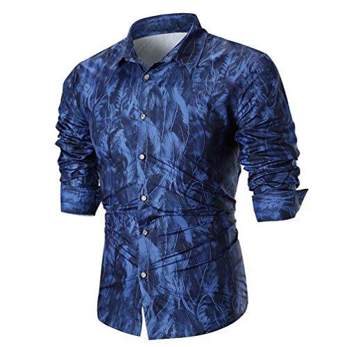(Herren Hemd feiXIANG Männer gedruckt Hemd Valentinstag Shirt Streetwear Mode Shirt Bluse)
