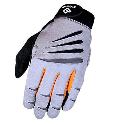 Bionic guante hombres de la capacitación dedo completo guantes w/tecnología de ajuste NATURAL, gris/naranja (par), Gray/Orange