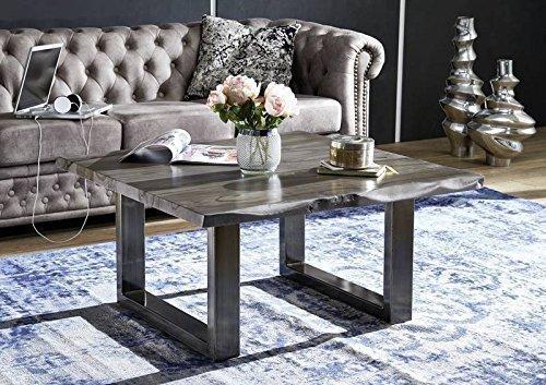 Table basse carrée 90x90cm - Bois massif de palissandre laqué (Smoked Oak) - SYDNEY #0317