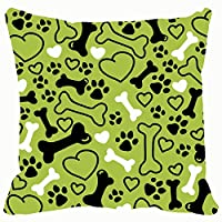 Qian Mu888 Fashion decorative pillowcase seamless flat hand drawn dog dog miscellaneous dog Miscellaneous 18 * 18IN