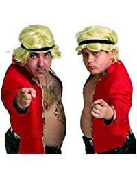 Stavros Flatley XFactor Britians got Fancy Dress Talent Wig Headband Coat