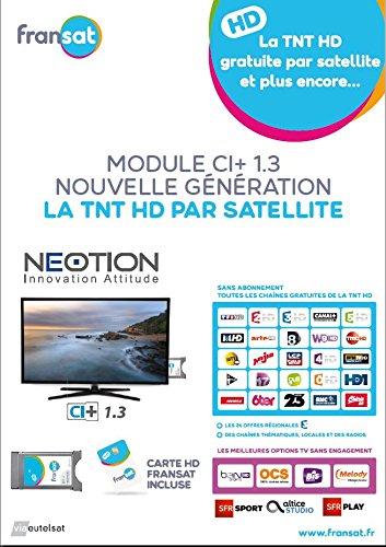NEOTION Cam FRANSAT CI Plus Option SFR SAT/Option Bein Sport + Karte Unbegrenzte