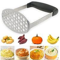 TedGem Machacador de Patatas, Trituradora de Patata de Acero Inoxidable,Trituradora de la patata de puré de Ricer, fruta Prensa / Alimentación Infantil colador