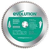 Evolution Blade14 Raptor - Hoja con dientes de carburo de tungsteno para cortar aluminio (355 mm, 80 ddp)
