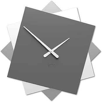 CalleaDesign - Orologio da Parete Foy_60, Grigio Quarzo