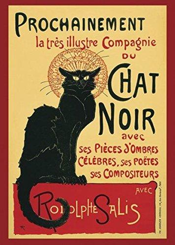 Close Up Le Chat Noir Poster (61cm x 91,5cm) (Chat La Poster Noir)