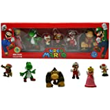 Nintendo NIF-333 - Juego de figuritas de Super Mario - Juego de 6 figuritas de Super Mario