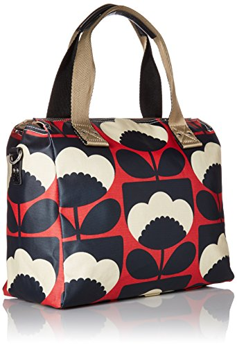 f91de080b4b Orla Kiely Women s Zip Messenger Bag, Red (Poppy), 32.5x30.5x8.2 cm (W x H  x L)