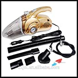Supermall 2018 New Imported Dual-use Auto Dust Buster Car Vacuum Cleaner & 12V Car Air Compressor Tire Pressure Gauge With LED Light Got Car Sticker High Quality