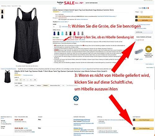 Hibelle 2018 Tank Top Damen Mode T Shirt Bluse Tank Top Damen Camisole Sommer Lose Weste Schwarz Klein Small S