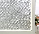 ABO Fensterfolie Sichtschutzfolie Milchglasfolie Dekofolie Window Film 45*200cm, AW1002-1