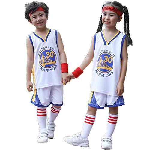 CHUANG Sport Baby Kids Set Trikot - Warriors # 30# / Lakers Kobe # 24 / Bulls Jordan # 23 / New Jersey Trikots - Celtics # 11 / Basketballfans Für Jungen Und Mädchen