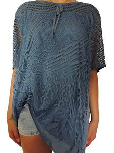 Viele verschiedene Farben Damen Blusen Shirts Größe 46 48 50 52 54 Blauton