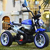 Lvbeis Kinder Elektro Motorrad 6 Volt Akku Motorcycle Musik Kindermoped Kleinkinder Motocross,Blue