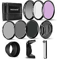 Neewer 58MM Profesional UV CPL FLD Lente Filtro y ND Filtro de Densidad Neutra(ND2. ND4. ND8) Kit de accesorios para Canon Rebel y EOS Cámara