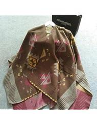 Estilo de moda Bohemia de las mujeres de gran tamaño espesado manta bufanda abrigo chal acogedor imitación Cachemira 150 * 130 cm , coffee color