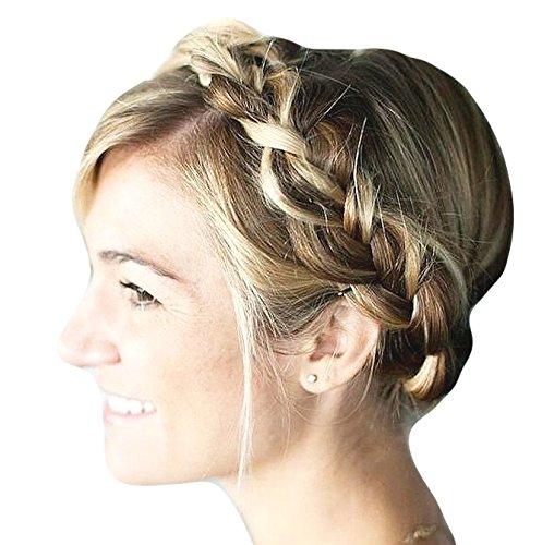 Im Alle Färben Stämmige Geflochtene Haarband Traditionelle Flechtfrisur