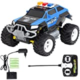 Diawell RC ferngesteuertes Polizei Auto Polizeiauto Truck mit Akku und Ladegeräte Vollfederung Warnlicht