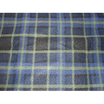 Material,Fabric,Soft And Washable 60 Inch Width Brown Check Polar Fleece