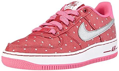 Nike Air Force 1 '06 (GS), Mädchen Sneakers, Rot (Dark Red/Mtllc Slvr-Pnk Pw-White), 38 EU