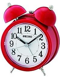 Seiko QHK035R Réveil analogique unisexe en plastique Rouge