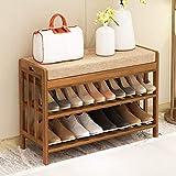 Schuhregale Bambus Antik ändern Schuh Bank europäischen Stil Schuhschrank modernen einfachen Eingang Flur Schuhe Hocker multifunktionale Größe Optional (Größe: 70 * 30 * 50 cm) ( Größe : 70*30*50cm )