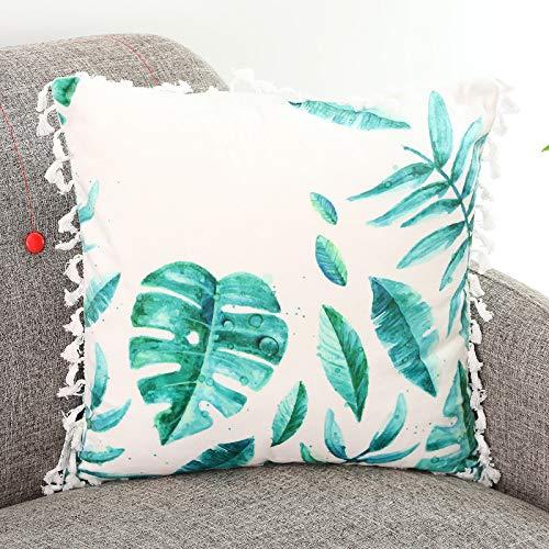 saqwq Pflanze Vogel Hält Kissen Kissen Auf Hause Sofa Kissen Auto Büro Nickerchen Kissen 45 x 45 cm Green-Plant -