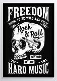 Rock & Roll Totenkopf Kunstdruck Poster -ungerahmt- Bild DIN A4 A3 K0318 Größe A4