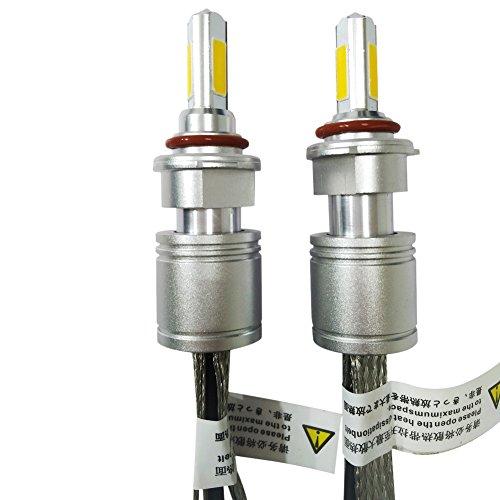 Huaming 6000K 5000LM 9-32V 2pcs tutti in uno ricambio 40W LED lampadine per fari auto guida fendinebbia Kit di conversione IP 68impermeabile protezione 9005HB3