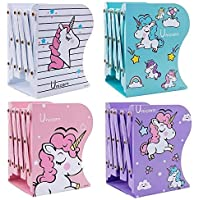 AOZITA Multipurpose Expandable Bookcase Desktop Bookend Stand Holder Adjustable Book Rack for Kid Office Book Organizer…