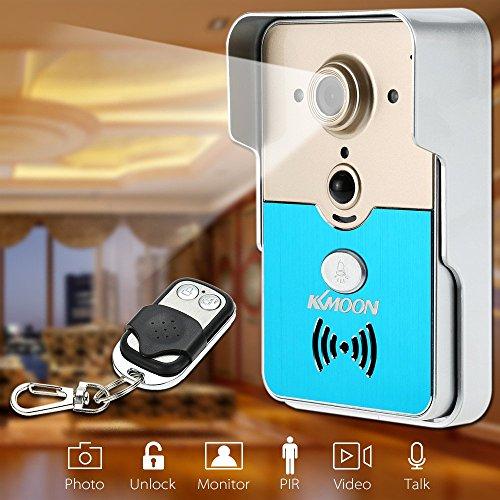 KKmoon HD 720P P2P Campanello con video senza fili, Wi-Fi, porta telefono Interfono Intercom visivo verso a distanza supporto per scheda TF accesso telefonico