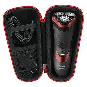 Khanka Hart Reise Tasche für Philips Series 3000 5000 6000 7000 Elektrischer Trocken Nassrasierer S3233/52 S5290/12 S6640/44.