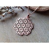 Halskette Lebensblume Roségold 925