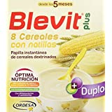 Blevit Plus Duplo 8 Cereales con Natilla - Paquete de 2 x 300 gr - Total: 600 gr