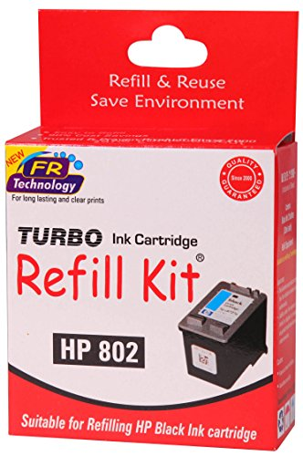 Turbo refill kit for HP 802 black ink cartridge  available at amazon for Rs.294